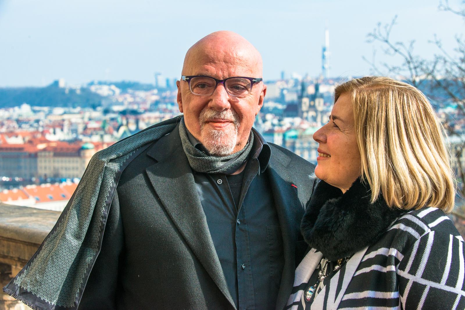Coelho s manželkou
